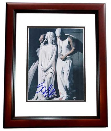 50 Cent Curtis Jackson Signed - Autographed Rapper - Actor 8x10 inch Photo MAHOGANY CUSTOM FRAME - Guaranteed to pass PSA or JSA