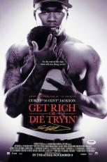 50 Cent Curtis Jackson Get Rich or Die Tryin' Signed 12x18 Photo PSA/DNA AB48796