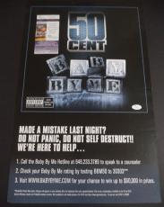 50 Cent Curtis Jackson Music Legend Signed Autograph 14x22 Poster Jsa Coa Rare