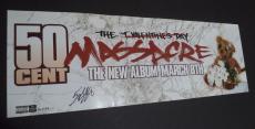 50 Cent Curtis Jackson Music Legend Signed Autographed 9x26 Poster W/coa Rare