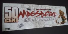 50 Cent Curtis Jackson Music Legend Signed Autographed 9x26 Poster W/coa Rare A