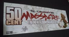 50 Cent Curtis Jackson Music Legend Signed Autographed 9x26 Poster W/coa Rare B