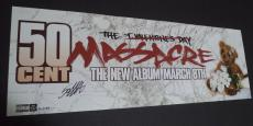 50 Cent Curtis Jackson Music Legend Signed Autographed 9x26 Poster W/coa Rare E