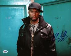 50 Cent Curtis Jackson Signed 11X14 Photo Autographed PSA/DNA #X34955