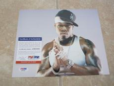 50 Cent Curtis Jackson Signed Autographed 8x10 Photo PSA Certified THUMB PRINT !