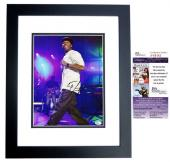 50 Cent Curtis Jackson Signed - Autographed Concert 11x14 inch Photo BLACK CUSTOM FRAME - Guaranteed to pass PSA or JSA - JSA Certificate of Authenticity