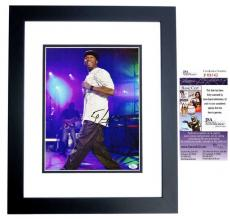 50 Cent Curtis Jackson Signed - Autographed Concert 11x14 inch Photo BLACK CUSTOM FRAME - JSA Certificate of Authenticity