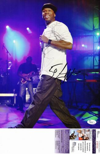 50 Cent Curtis Jackson Signed - Autographed Concert 11x14 inch Photo - JSA Certificate of Authenticity