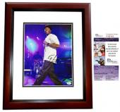 50 Cent Curtis Jackson Signed - Autographed Concert 11x14 inch Photo MAHOGANY CUSTOM FRAME - JSA Certificate of Authenticity