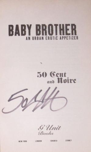 50 Cent Curtis Jackson Signed Baby Brother Signed Soft Cover Book Coa