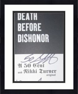 50 Cent Curtis Jackson Signed Death Before Dishonor Signed Soft Cover Book Coa