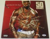 50 Cent G-unit Get Rich Or Die Tryin Signed Vinyl Album Authentic Autograph Psa