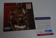 50 Cent Get Rich Or Die Tryin Autographed Signed CD Cover PSA Certified