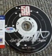 50 Cent Get Rich Or Die Tryin  Autographed Signed CD PSA Certified