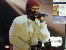 50 Cent Rapper Signed Autographed 11x14 Photo Jsa M60254