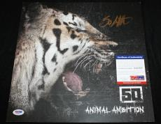 50 Cent signed 12 x 12 poster, Animal Ambition, Get Rich or Die Tryin', PSA/DNA