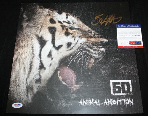 50 Cent signed 12 x 12 poster, Get Rich or Die Tryin', PSA/DNA AA25528