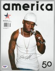 50 Cent Signed Authentic Autographed America Magazine PSA/DNA #AA33969