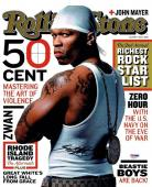 50 Cent Signed Authentic Autographed Rolling Stone 11x14 Photo PSA/DNA #AA61171