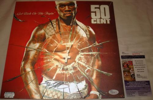 50 Cent Signed   Autographed Get Rich or Die Tryin Album Insert   LP - JSA M67774