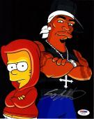 """50 CENT Signed Autographed """"The Simpsons"""" 8x10 Photo PSA/DNA #Y94224"""