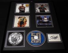 50 Cent Signed Framed 16x20 The Massacre CD & Photo Collage