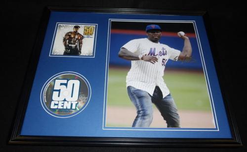 50 Cent Signed Framed 16x20 The Massacre CD & Photo Display JSA