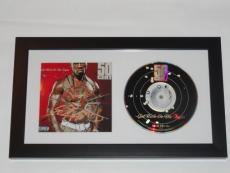 """50 Cent Signed Framed """"get Rich Or Die Tryin"""" Cd New Curtis Jackson Proof"""