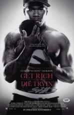 50 Cent Signed Get Rich Or Die Tryin' 11x17 Movie Poster Psa Coa Ad48116