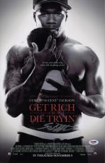 50 Cent Signed Get Rich Or Die Tryin' 11x17 Movie Poster Psa Coa Ad48118