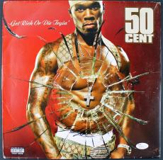 50 Cent Signed 'Get Rich Or Die Tryin' Album Cover JSA #M66762