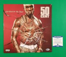 """50 Cent Signed """"get Rich Or Die Tryin"""" Lp Album Certified With Beckett Bas Coa"""