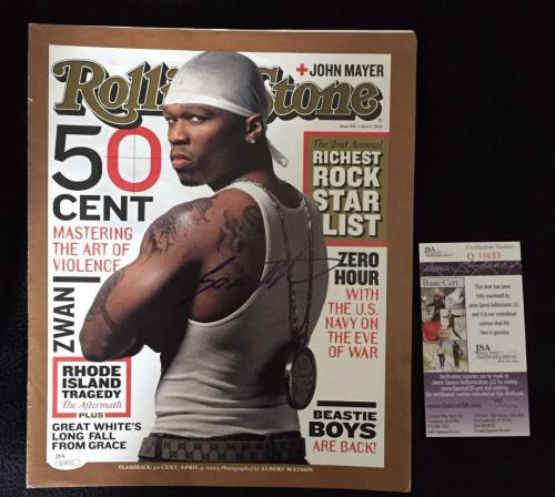 50 Cent Signed Rolling Stone Magazine Cover JSA Authenticated