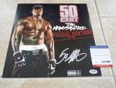 50 Cent The Massacre Signed Autograph LP Album Record Poster Flat PSA Certified