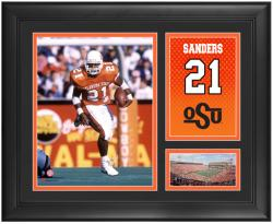 "Barry Sanders Oklahoma State Cowboys Framed 15"" x 17"" Campus Legend Collage - Mounted Memories"
