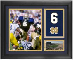 "Jerome Bettis Notre Dame Fighting Irish Framed 15"" x 17"" Campus Legend Collage"