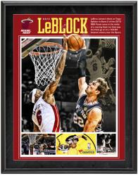 Miami Heat LeBron James 2013 NBA Finals Game 2 The Block 10.5'' x 13'' Sublimated Plaque - Mounted Memories