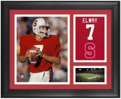 "John Elway Stanford Cardinal Framed 15"" x 17"" Campus Legend Collage"