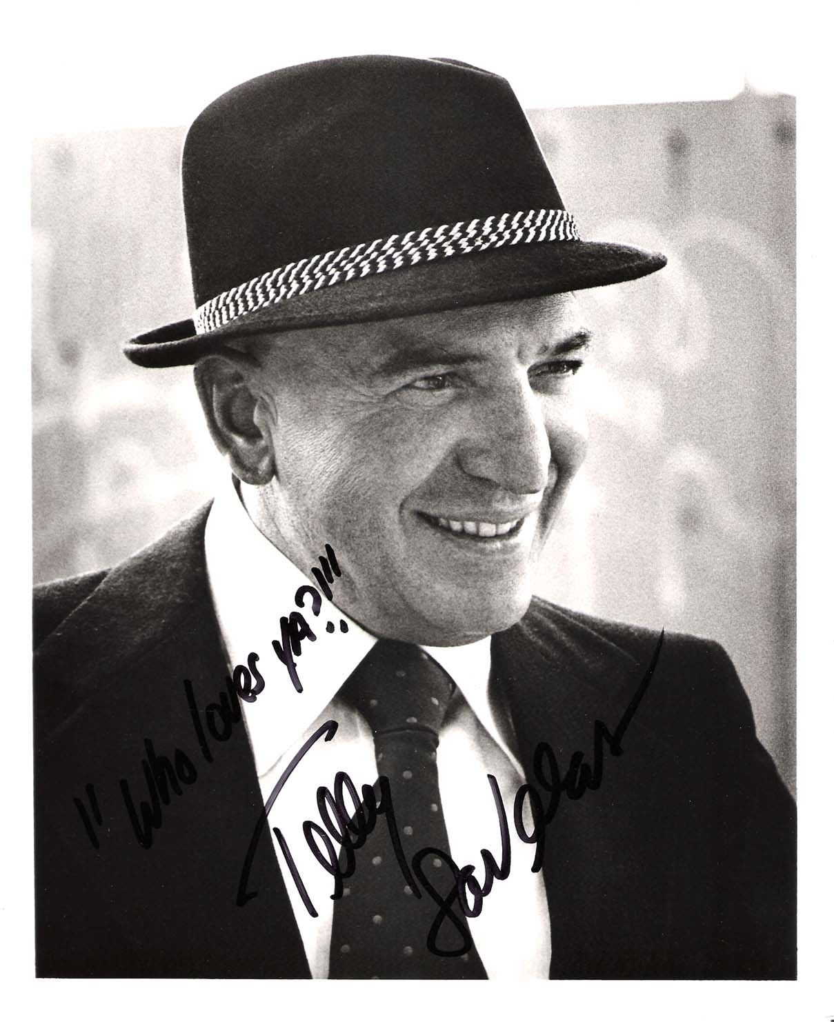 "TELLY SAVALAS (Best Known for His Role in ""KOJAK"" Passed Away 1994 - Signed 8x10 B/W Photo"