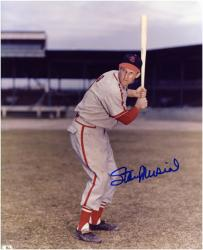 "Stan Musial St. Louis Cardinals Autographed 8"" x 10"" Batting Photograph"