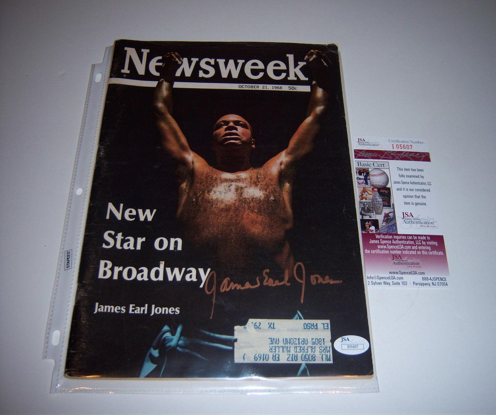 James Earl Jones Theres A New Star On Broadway Jsa/coa Signed Newsweek Magazine