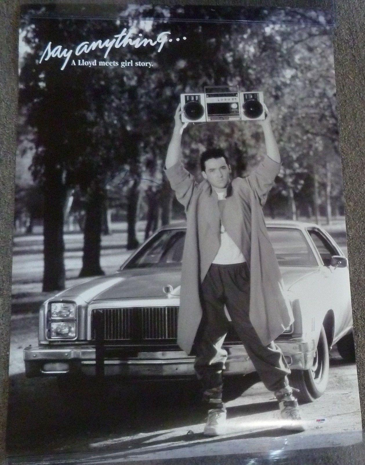 Signed John Cusack Photo - Say Anything 24x36 Movie Poster PSA DNA COA 'd