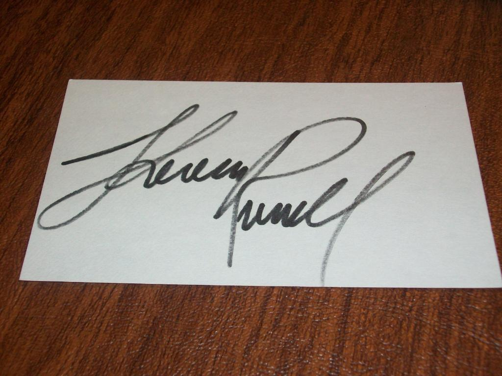 Actress Spider Man 3 Empire Falls Theresa Russell Signed Auto 3x5 Index Card F5