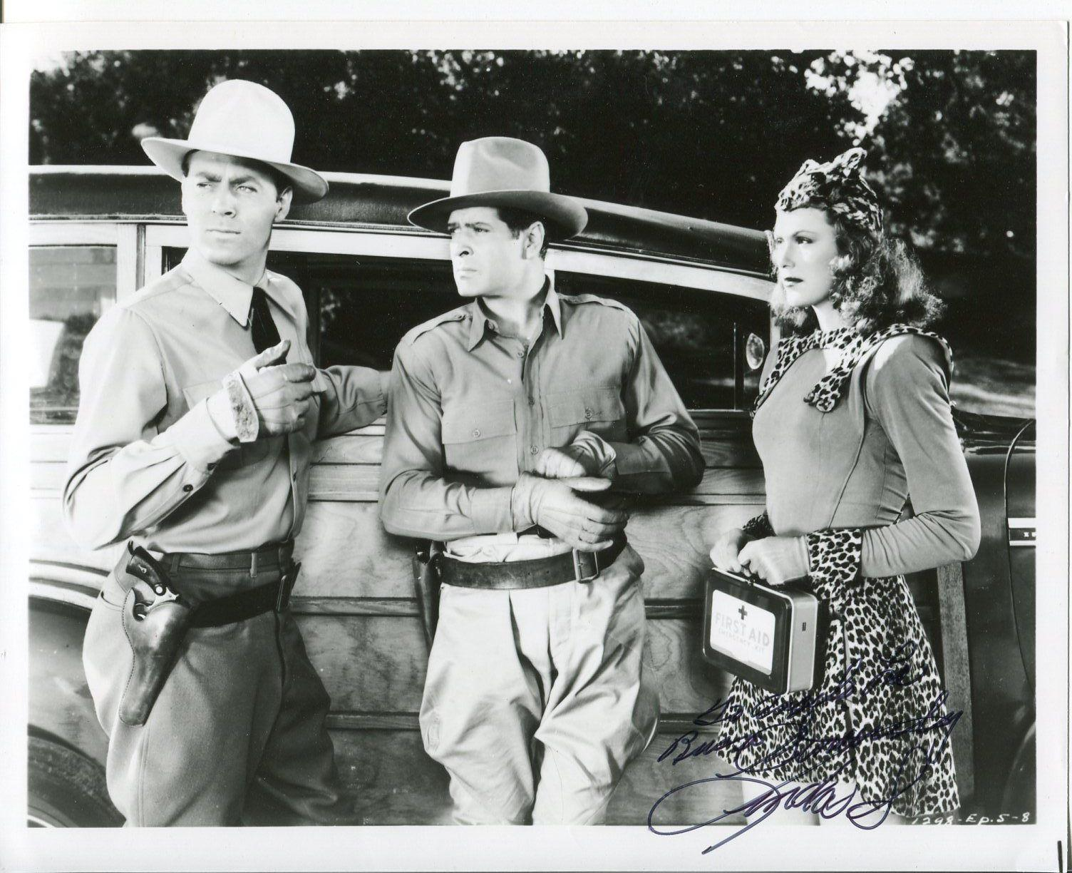 Linda Stirling Zorro's Black Whip Cowboy Western Movies Signed Autograph Photo