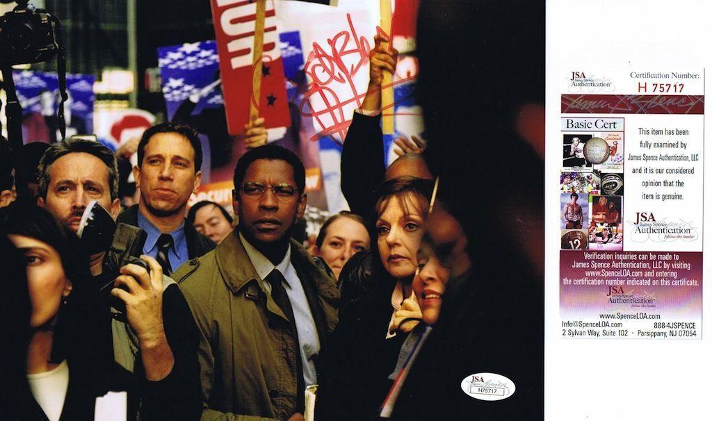 DENZEL WASHINGTON Signed Authentic Autographed 8x10 PHOTO - JSA #H75717