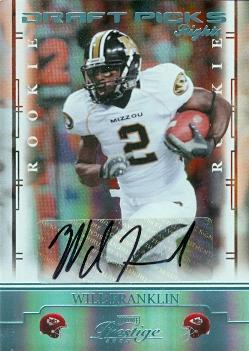 Will Franklin autographed Football Card (Missouri) 2008 Donruss Playoff Prestige Rookie #199