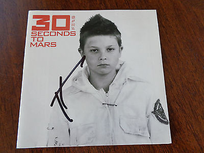 JARED LETO 30 Seconds to Mars SIGNED AUTOGRAPHED Cd Cover
