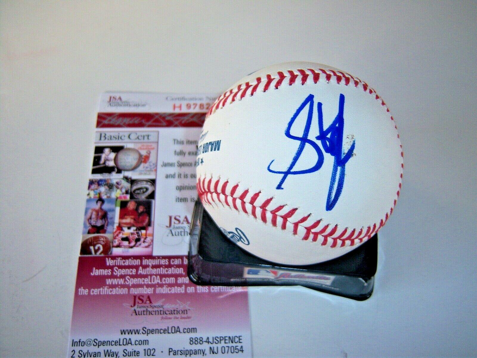 Steven Tyler Autographed Baseball - american Idol Judge Jsa coa