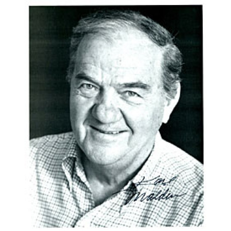 Karl Malden Autographed Black & White 8x10 Photo (James Spence)