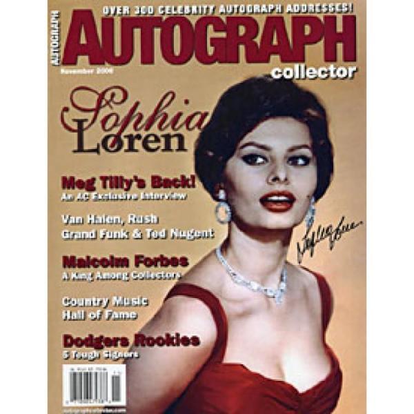 Sophie Loren Autographed Celebrity 8x10 Photo